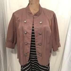 Jackets & Blazers - Military Style Cropped Jacket